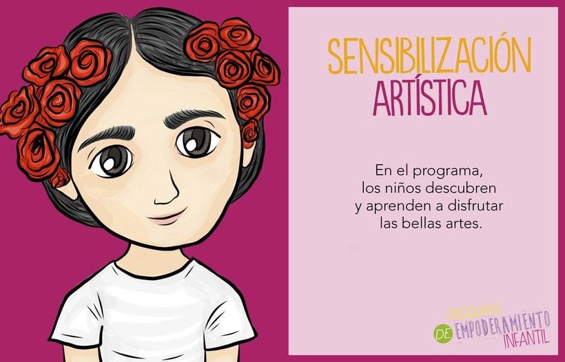 Programa de Empoderamiento Infantil / Diseño para sitio web Programa #PazAporte Guerrero 0