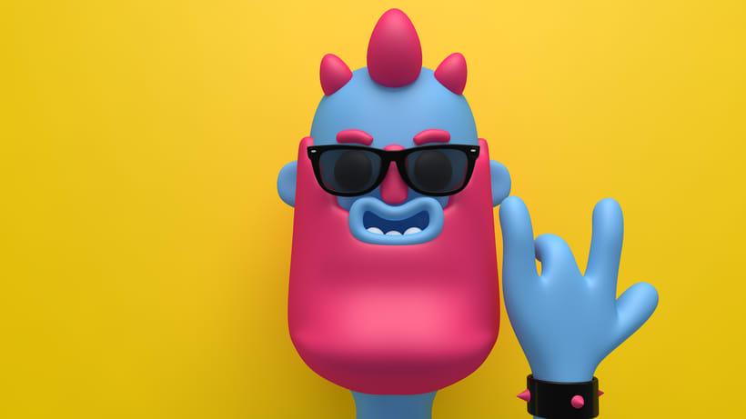 Meu projeto do curso: Diseño de personajes en Cinema 4D: del boceto a la impresión 3D -1