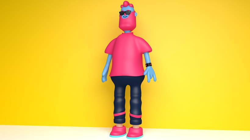 Meu projeto do curso: Diseño de personajes en Cinema 4D: del boceto a la impresión 3D 1