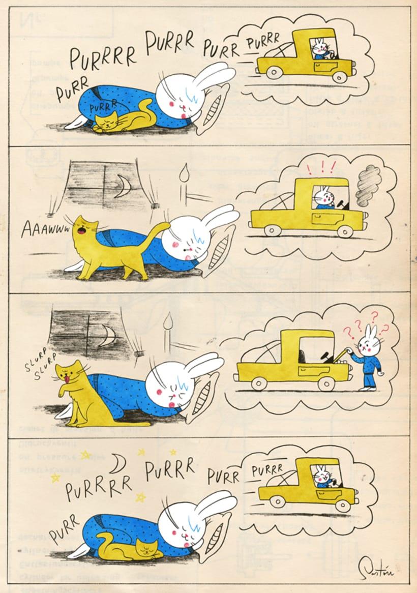 Motorcito - Churro, el conejo (comic) -1