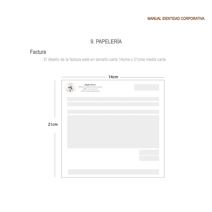 Imagen corporativa - ISGA BACKERY - Manual de imagen corporativa 33
