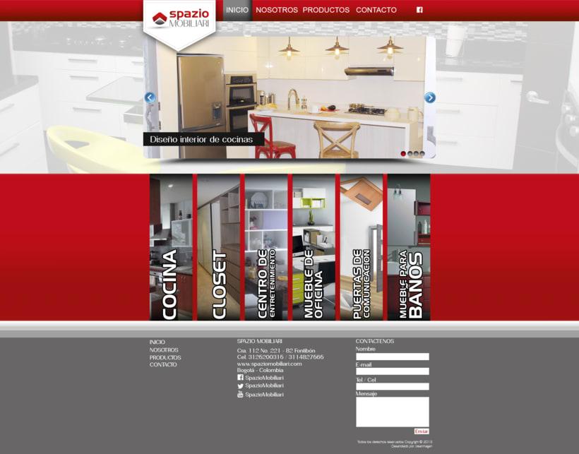 Diseño web - Spazio Mobiliari Bogotá -1