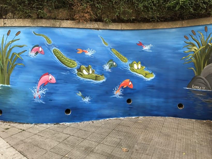 Mural en colegio -1