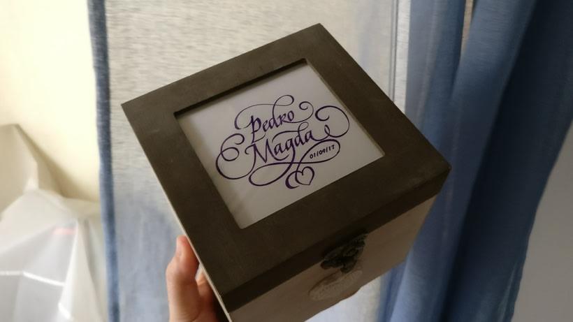 Ex Libris para un regalo de bodas muy especial. Caligrafía de Abelardo García. 25