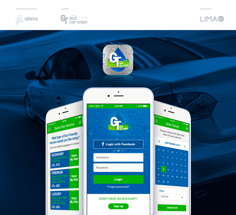 GT Eco Car Wash + UX/UI App + Landing Page -1