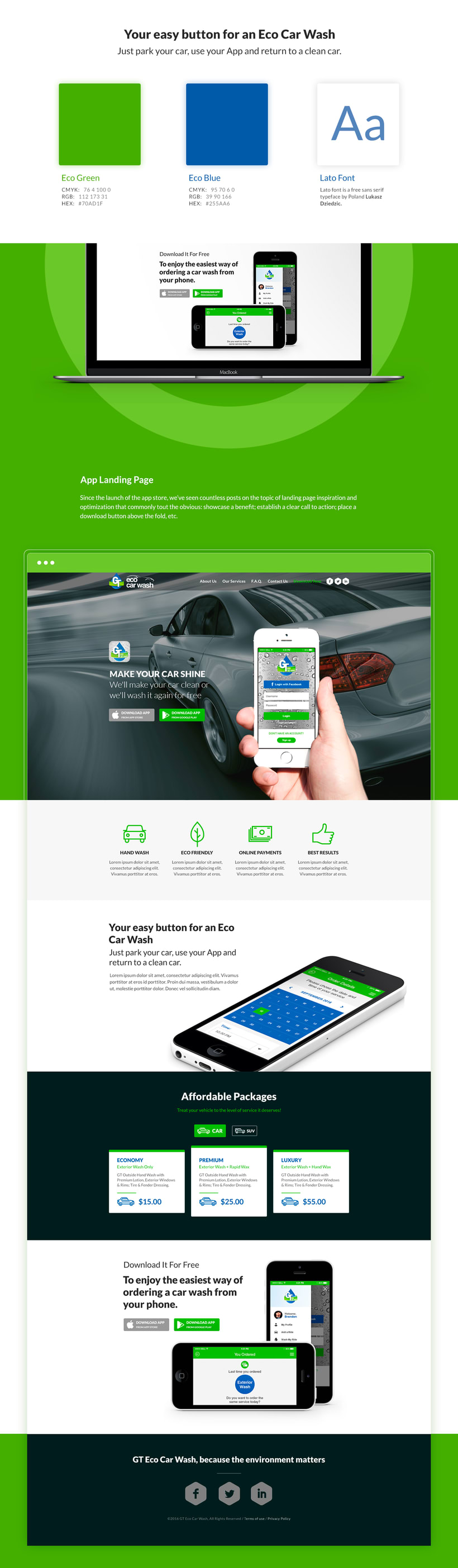 gt eco car wash ux ui app landing page domestika. Black Bedroom Furniture Sets. Home Design Ideas