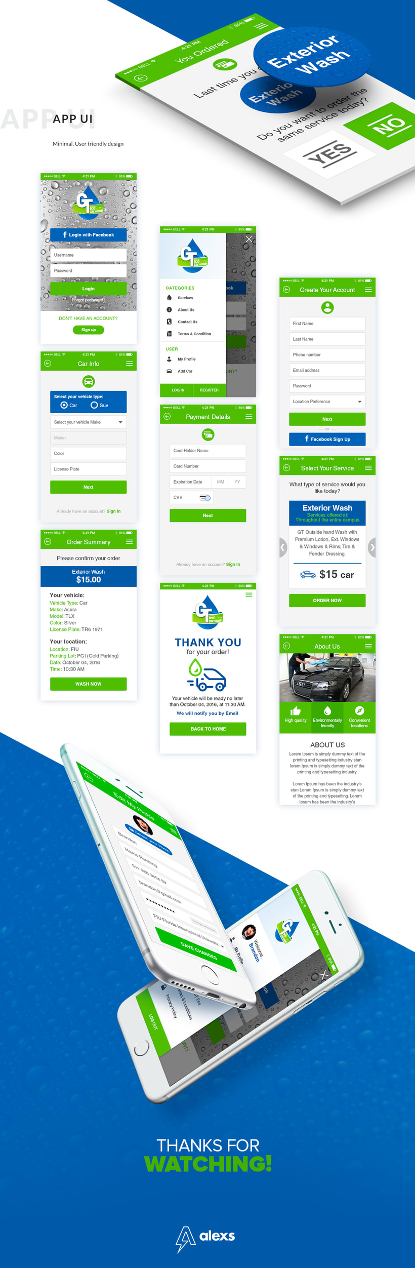 GT Eco Car Wash + UX/UI App + Landing Page 3