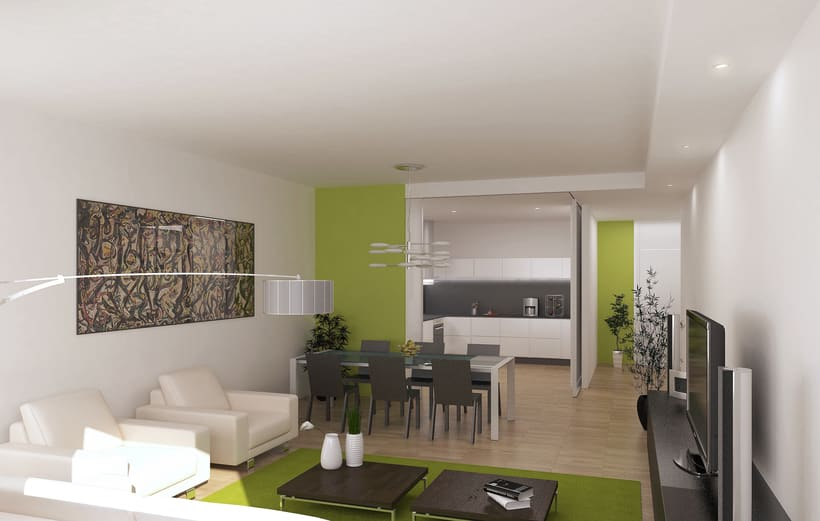 Diagonal Mar residence building, Barcelona. 3D visualization for AIA Arquitectura 2