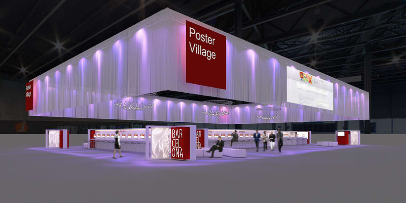 Stands-Temporary Architecture. Design and 3D Visualization for Servis Complet 4