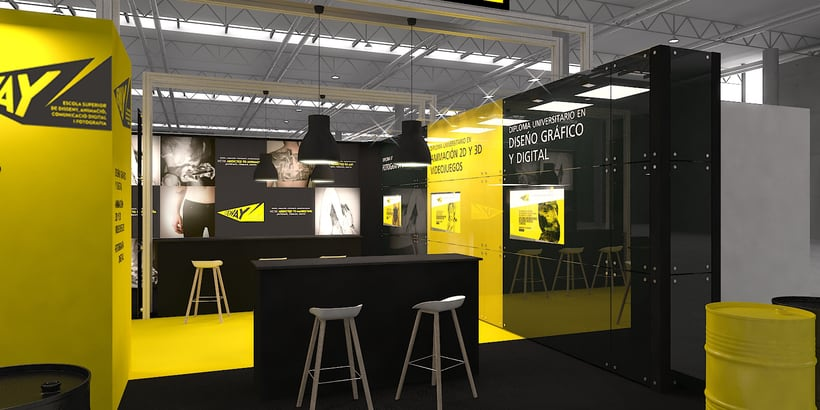 Stands-Temporary Architecture. Design and 3D Visualization for Servis Complet 7