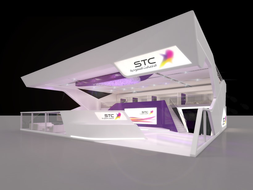 Stands-Temporary Architecture. Design and 3D Visualization for Servis Complet 9