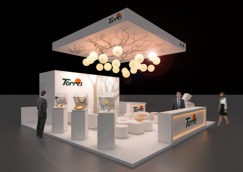 Stands-Temporary Architecture. Design and 3D Visualization for Servis Complet 11