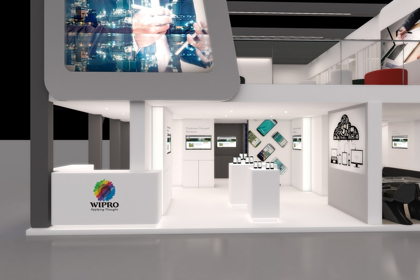 Stands-Temporary Architecture. Design and 3D Visualization for Servis Complet 13