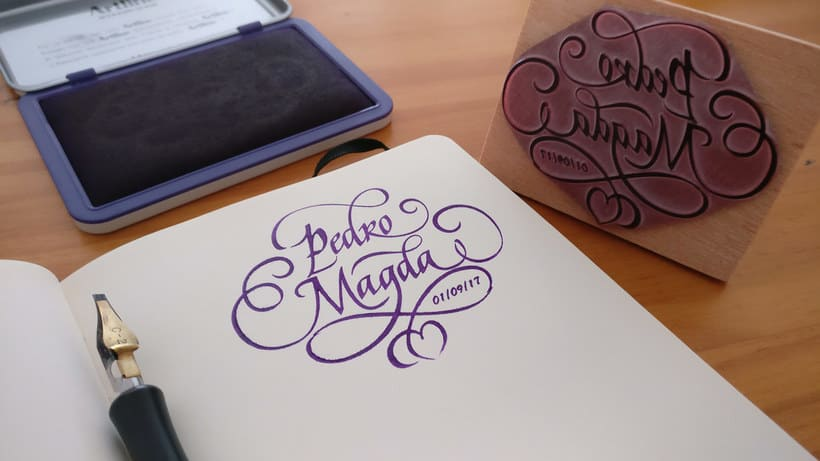 Un Ex libris caligráfico, el regalo personalizado perfecto 1