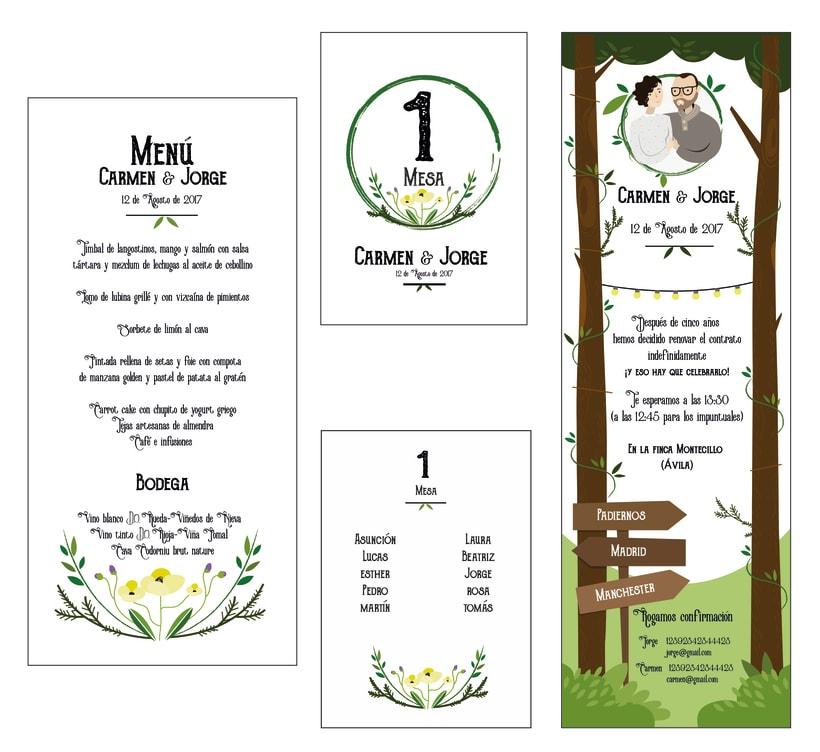 Invitación y papelería boda campestre -1