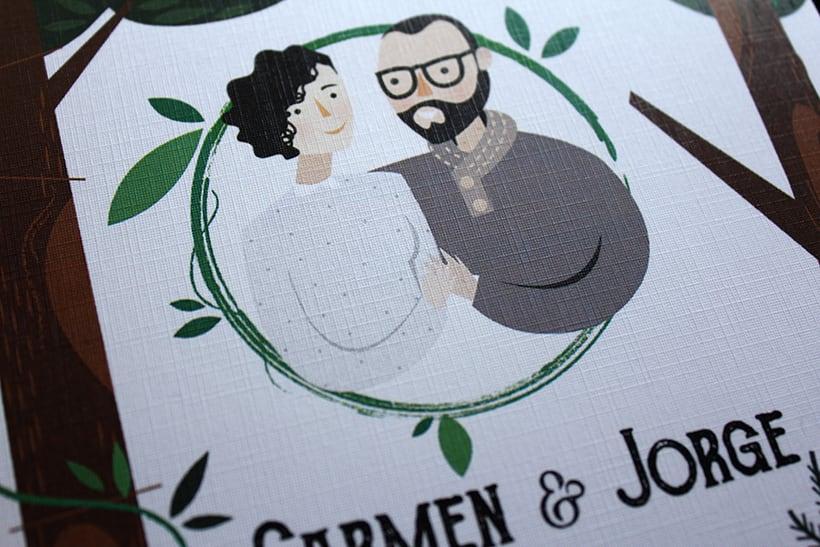 Invitación y papelería boda campestre 1