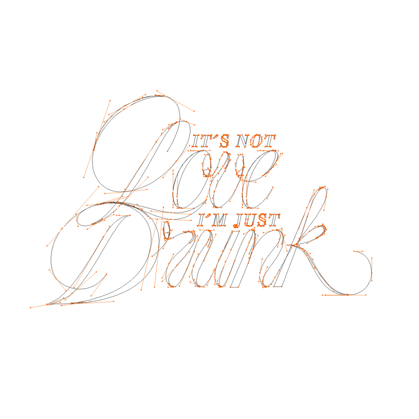 Lettering – It´s not love 1