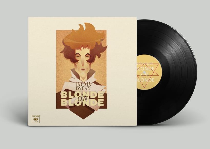 Rediseño de disco de Bob Dylan 0