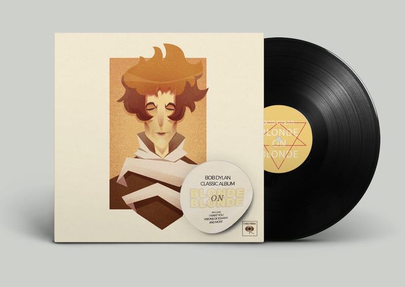 Rediseño de disco de Bob Dylan 1