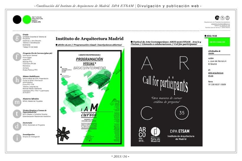 Comunicación web:      ETSAM, Carlos III y Feria del Libro de Madrid 0