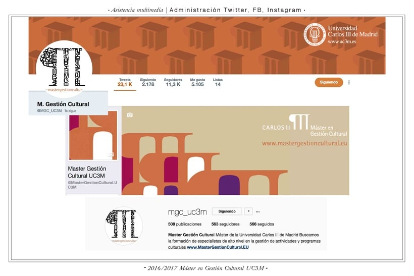 Comunicación web:      ETSAM, Carlos III y Feria del Libro de Madrid 2