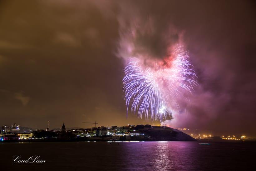 Semana Grande 2017 de Gijón, Asturias - Noche de los Fuegos 1