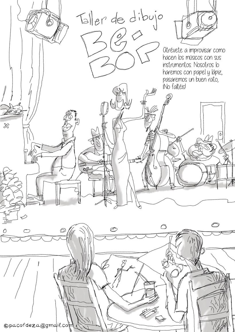 Taller de dibujo BE-BOP para festival de jazz de Toledo 2017 -1