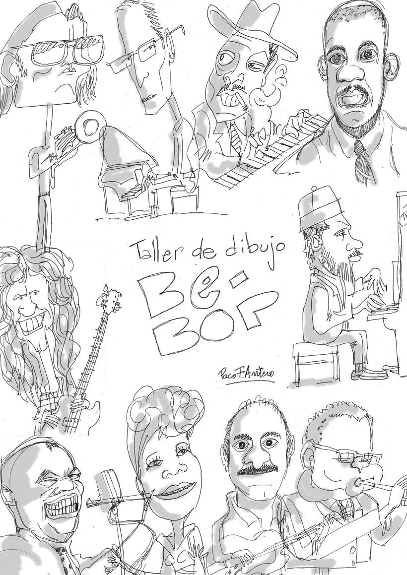 Taller de dibujo BE-BOP para festival de jazz de Toledo 2017 0