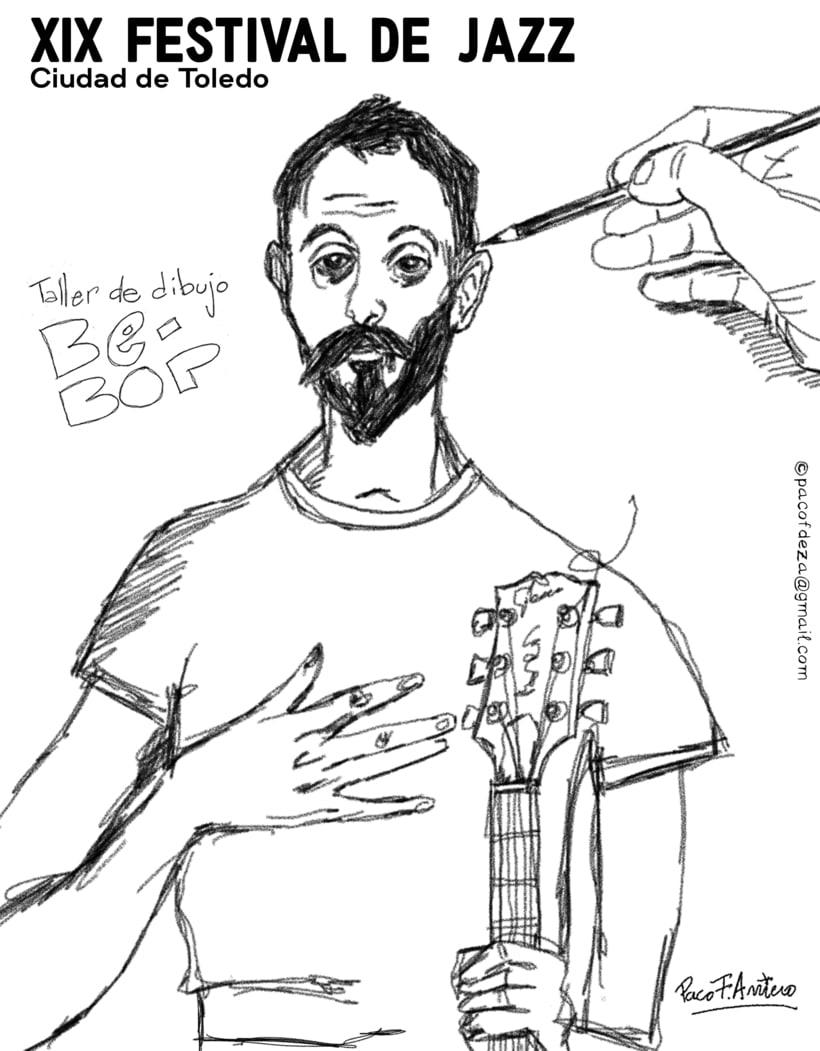 Taller de dibujo BE-BOP para festival de jazz de Toledo 2017 1