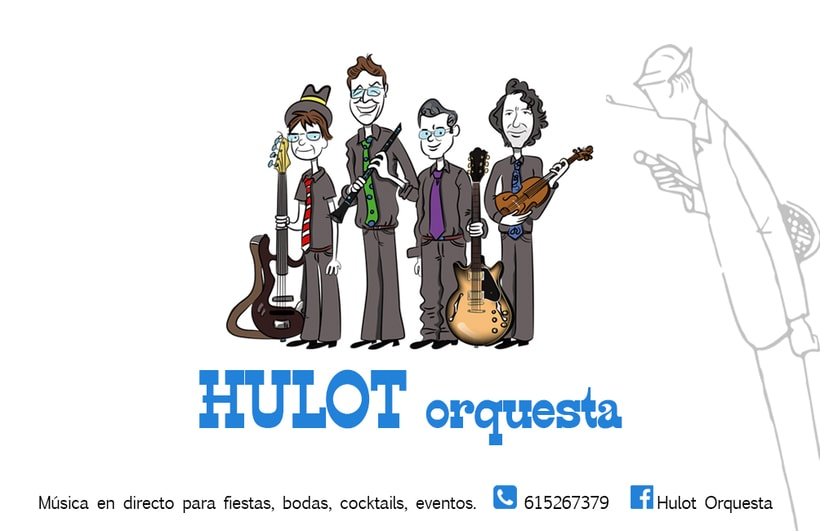 Cartel para grupo musical HULOT orquesta 0