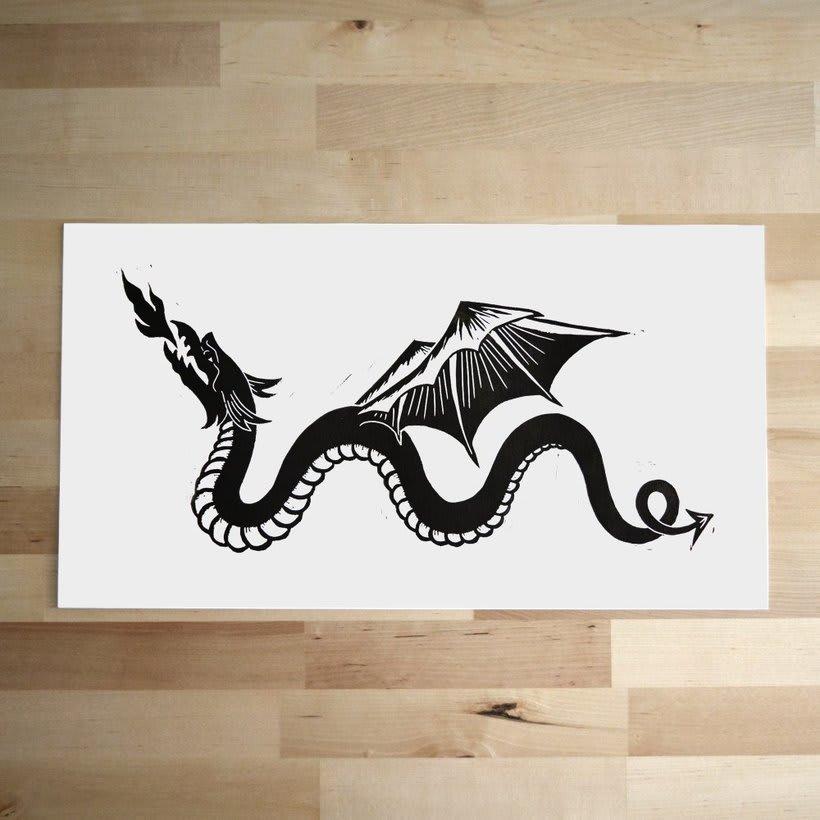 Medieval dragon -1