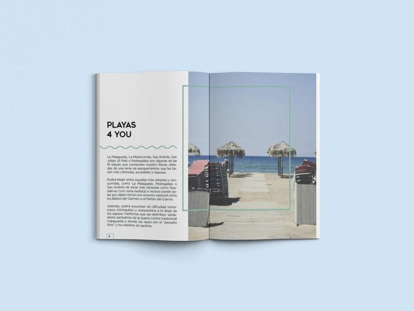 Diseño editorial Málaga 4 you 1
