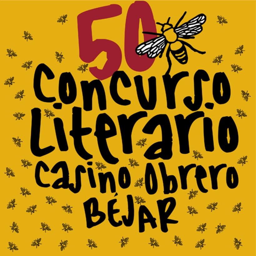 logo del 50 concurso literario del casino obrero de Béjar -1
