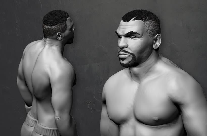 Mike Tyson - Zbrush 1