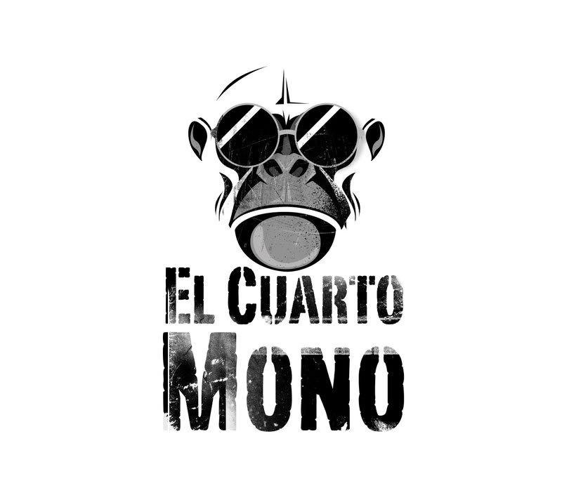Diseño de logo para El Cuarto Mono. 2