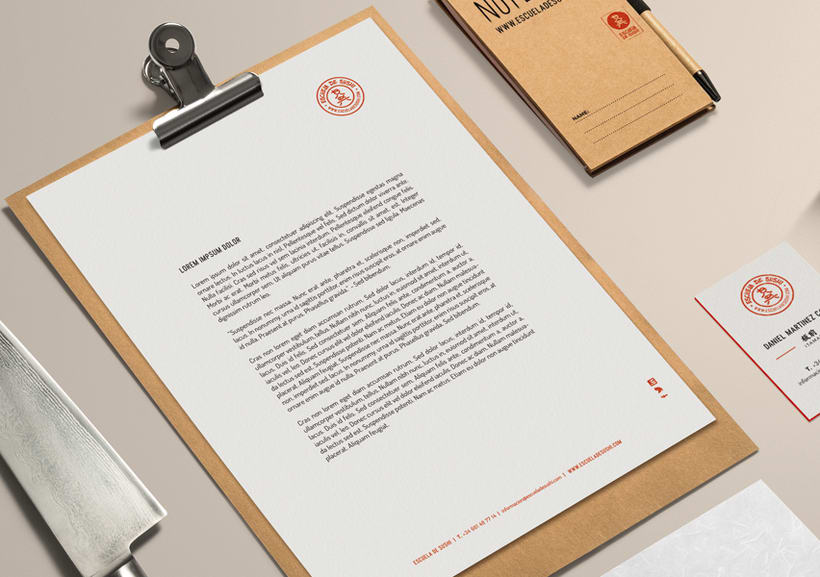ESCUELA DE SUSHI · Brand Identity Design 3