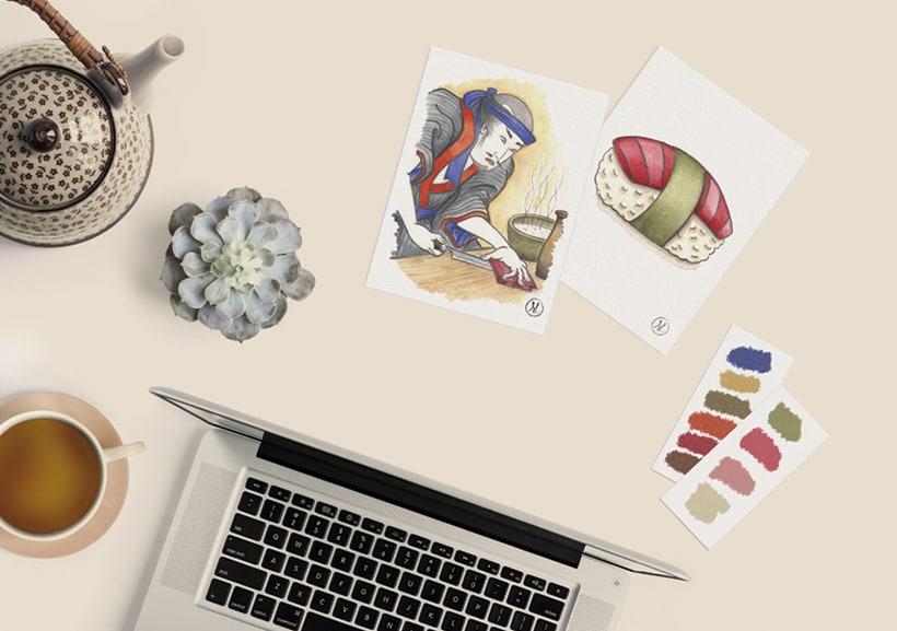 ESCUELA DE SUSHI · Brand Identity Design 0