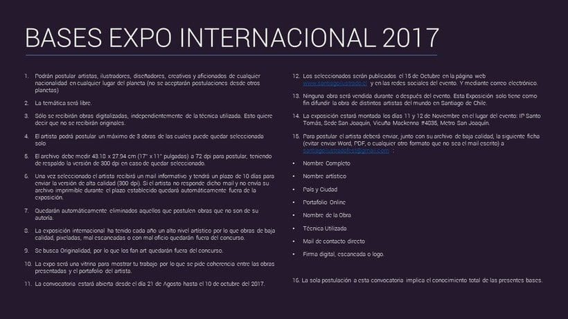 Convocatoria Expo Internacional Festival Santiago Ilustrado 2017 2