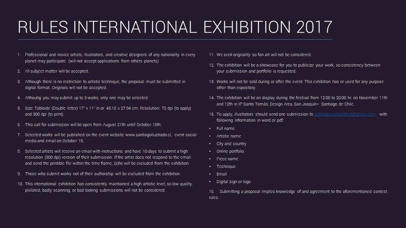 Convocatoria Expo Internacional Festival Santiago Ilustrado 2017 3