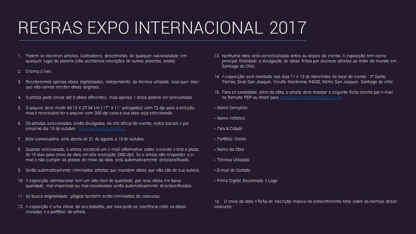 Convocatoria Expo Internacional Festival Santiago Ilustrado 2017 4