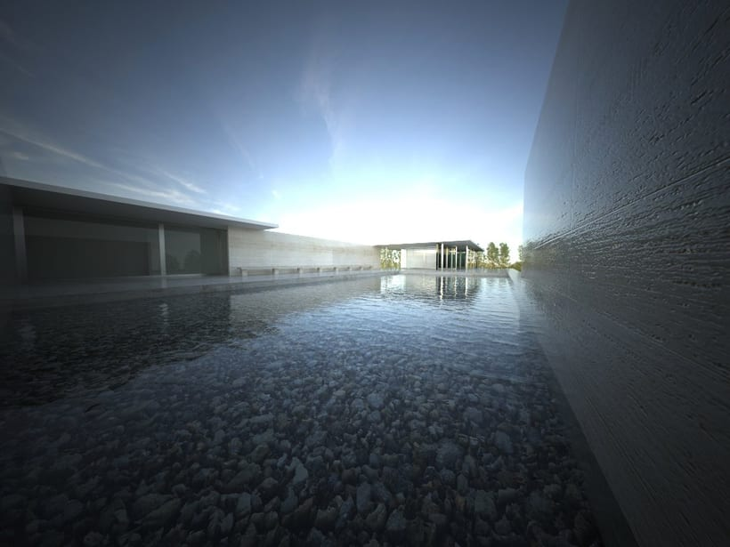 Pabellón Van Der Rohe / 3D render 0