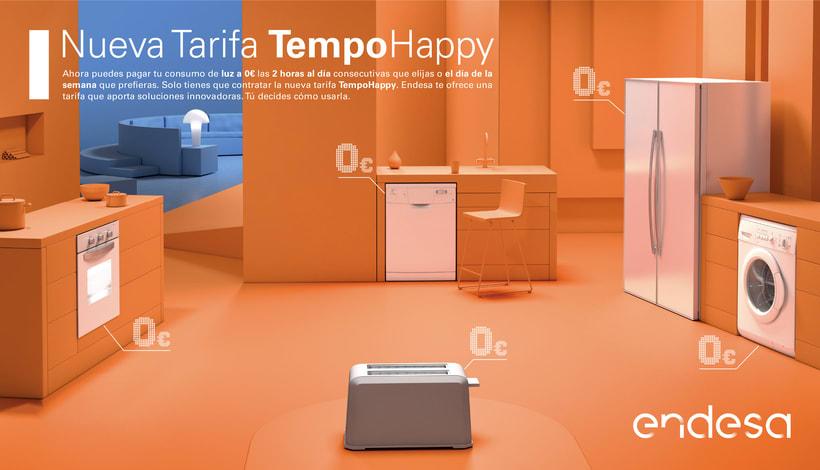 Escena 3D ENDESA Tempo Happy. Para medios impresos nacionales. -1