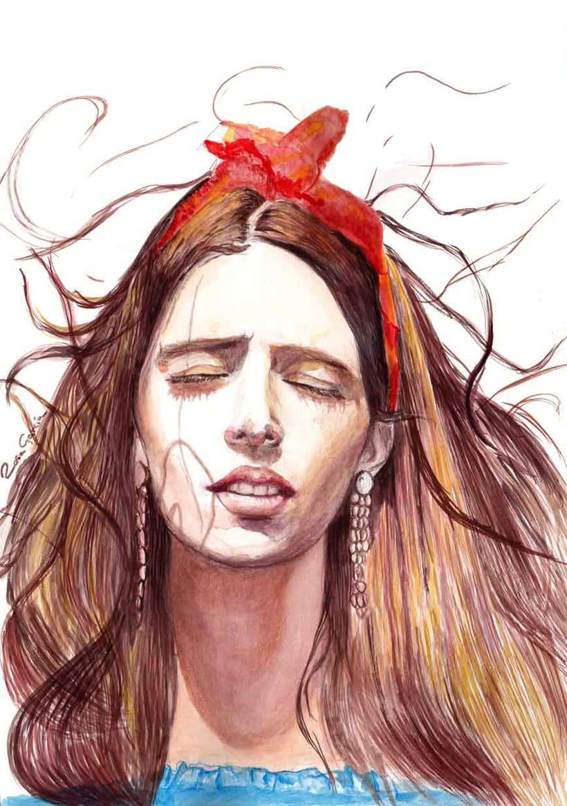 Dreaming. Watercolor. -1