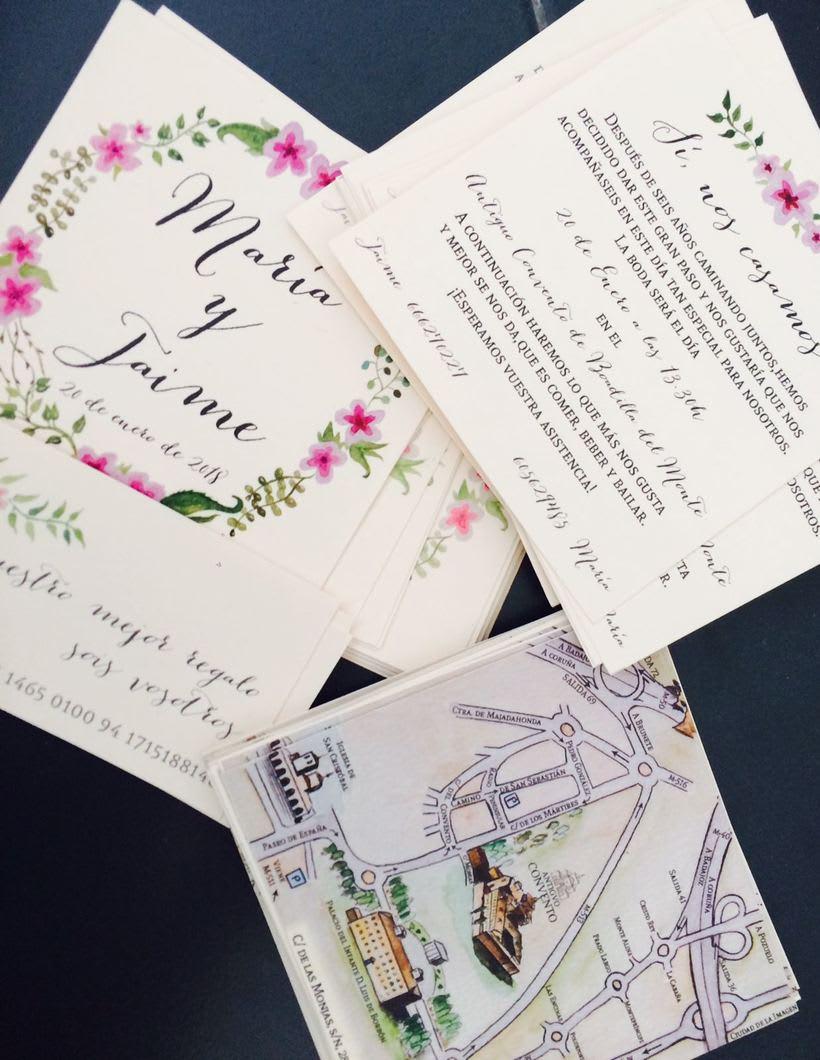 Invitación de boda M+J 0