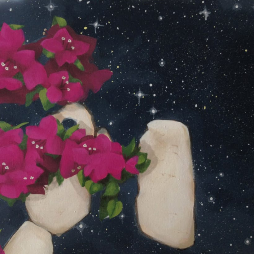 Pintura / Bugambilia cósmica 2