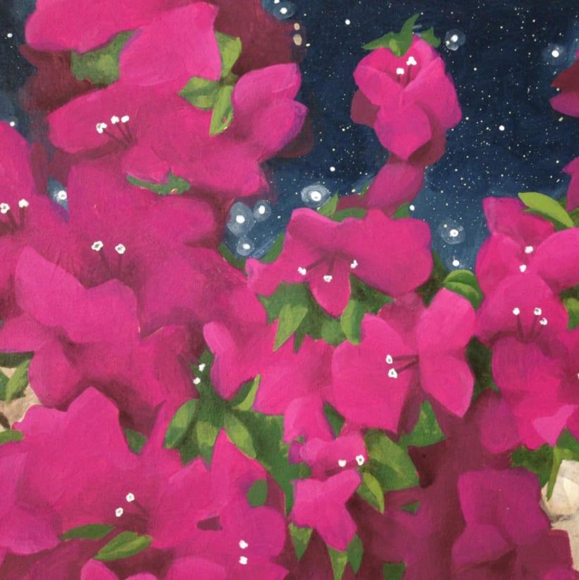 Pintura / Bugambilia cósmica 4