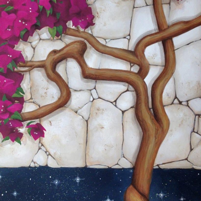 Pintura / Bugambilia cósmica 5
