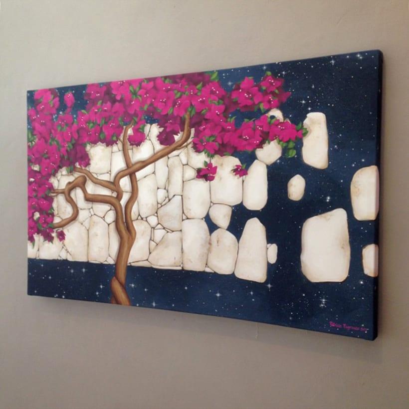 Pintura / Bugambilia cósmica 7