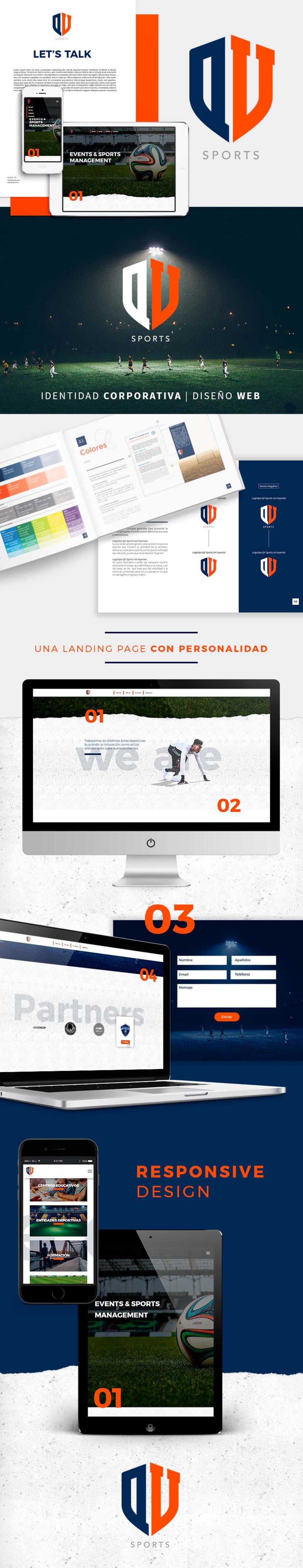 Logotipo y Web QV Sports -1