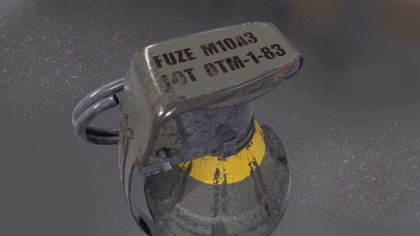Grenade - AUTODESK 3DS MAX + SUBSTANCE PAINTER + MARMOSET -1